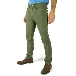 Joes Mens Kinetic Jeans Size 30 Slim Fit Army Green 5 Pockets Cotton Blend